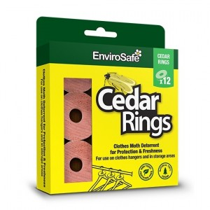 Envirosafe Clothes Moth Cedar Rings