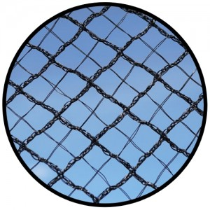 Cross X-Weave Quad Netting - BLACK