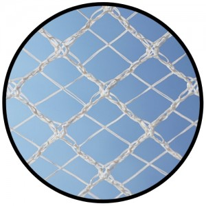 Cross X-Weave Quad Netting - WHITE