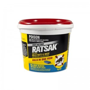 RATSAK Fast Action Wax Blocks 1kg