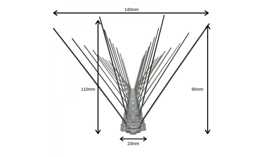 Anti Bird Spikes Dimensions