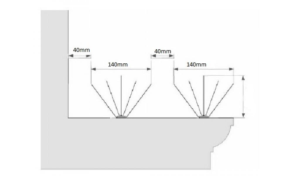 Anti Bird Spikes Diagram