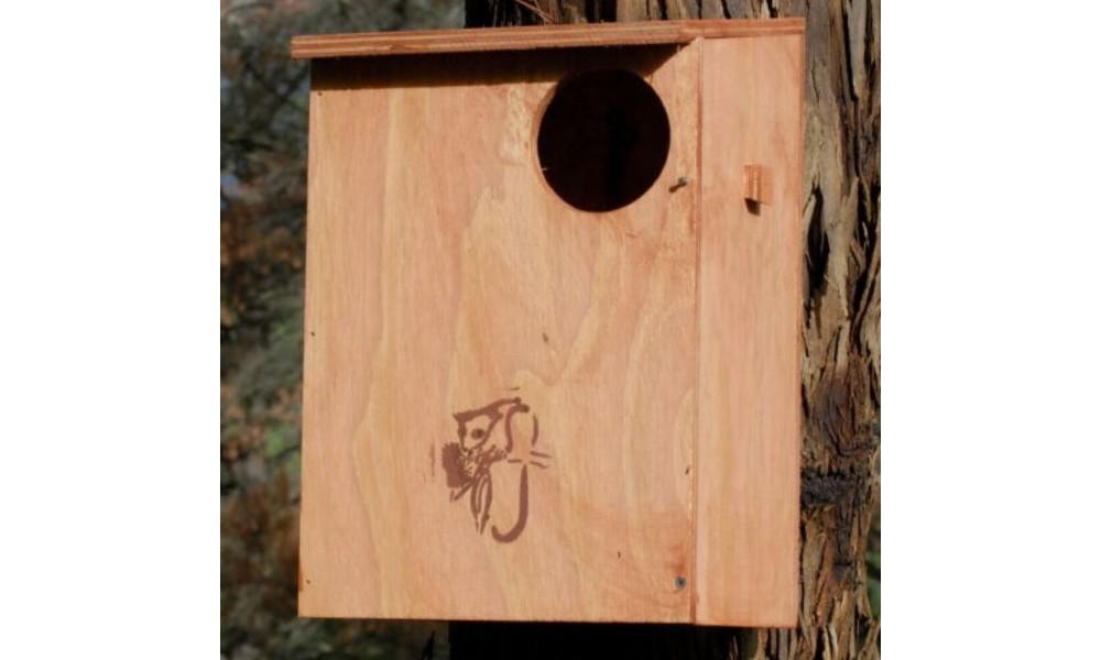 Possum Nesting Box Kit - Brushtail on tree