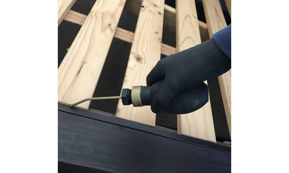 Starrdust Pro treating bed frame for Bed Bugs