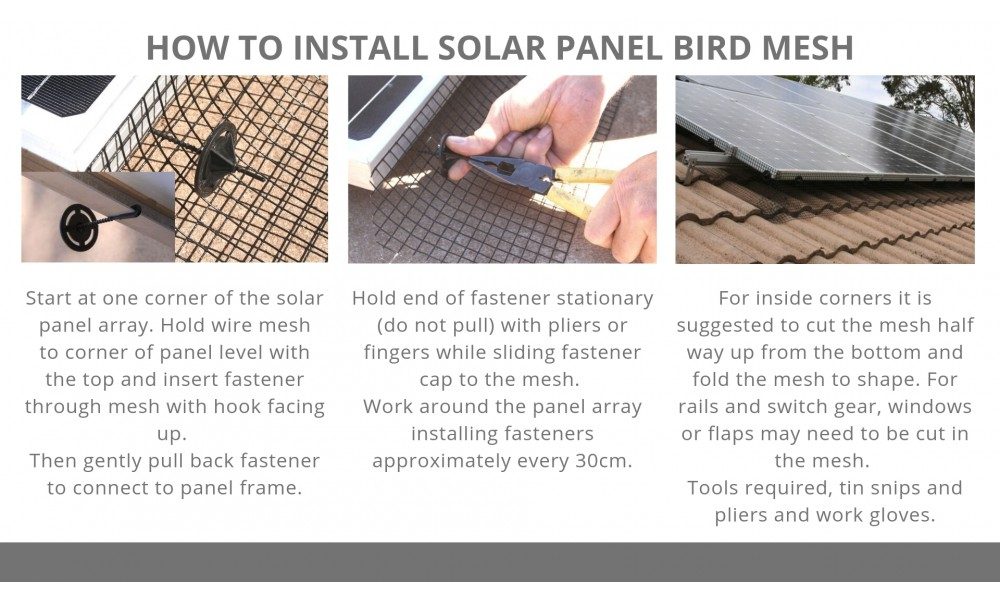 How to Install Solar Panel Bird Mesh