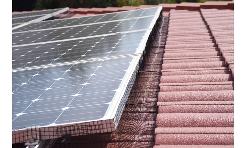 Solar Panel Mesh Kit Installed