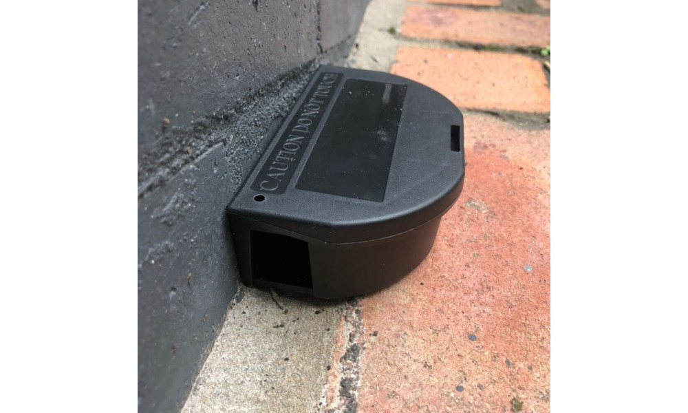 Pest Defence Mouse Bait Station Installed