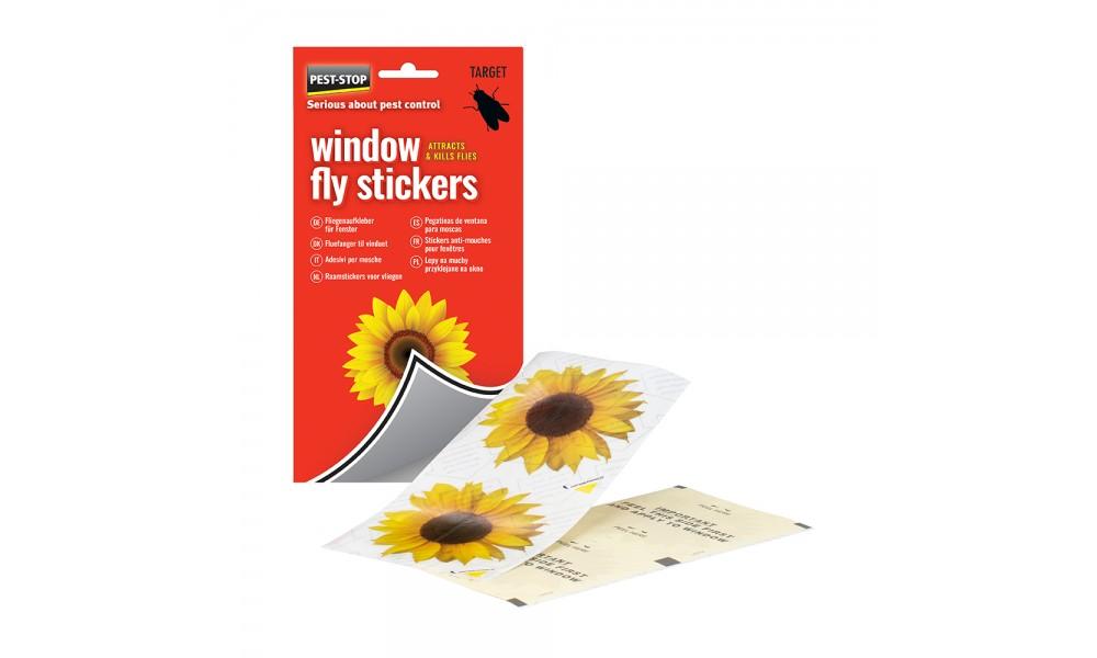 Pest-Stop Window Fly Stickers