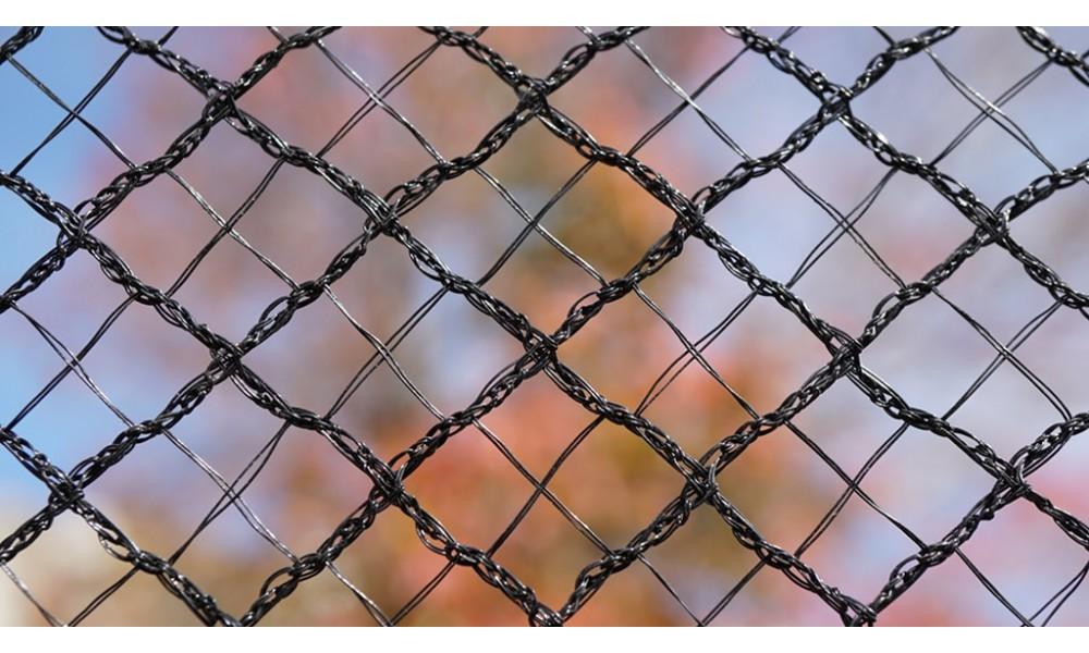 Cross X-Weave Quad Netting - BLACK
