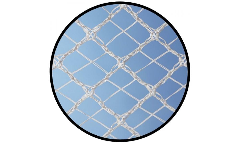 Cross X-Weave Quad Netting - WHITE