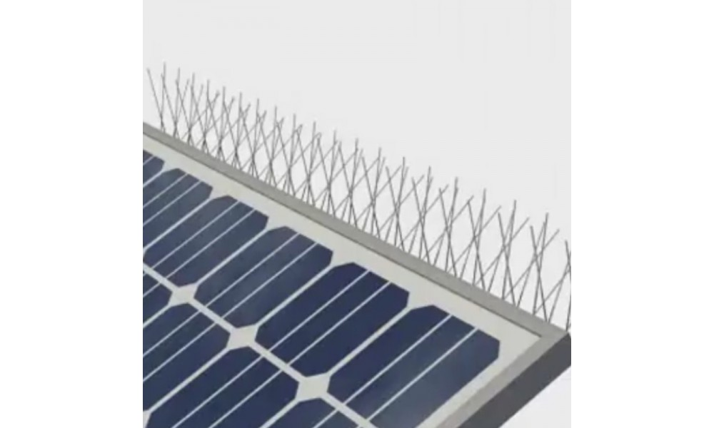 Solar Panel Spikes on top panel