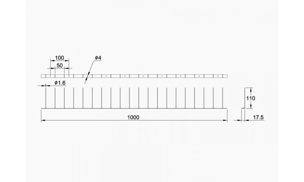 Stainless Steel Bird Spikes - Single Row