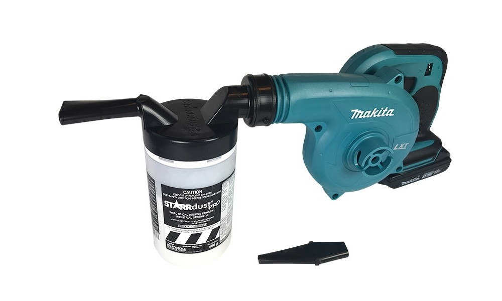 Starrdust Pro One Shot attached to Makita blower