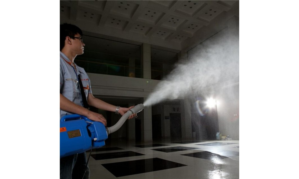ULV Cold Fogger spraying disinfectant