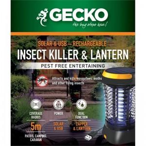 Gecko Bug Zapper - Solar Cordless