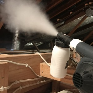 Starrdust Pro treating cockroaches in roof void