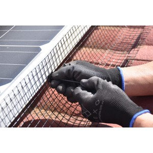 Attaching Solar Panel Mesh Kit with clips