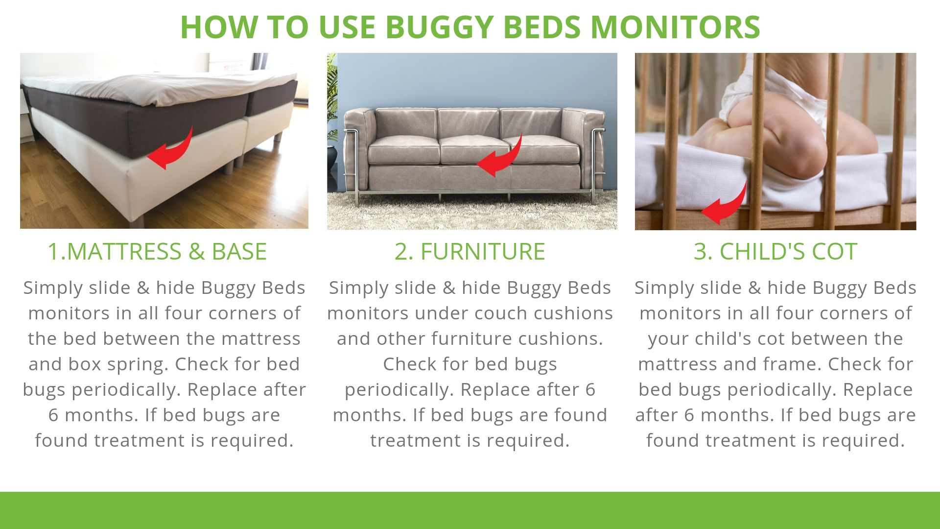 How to use Buggy Beds Bed Bug Monitors
