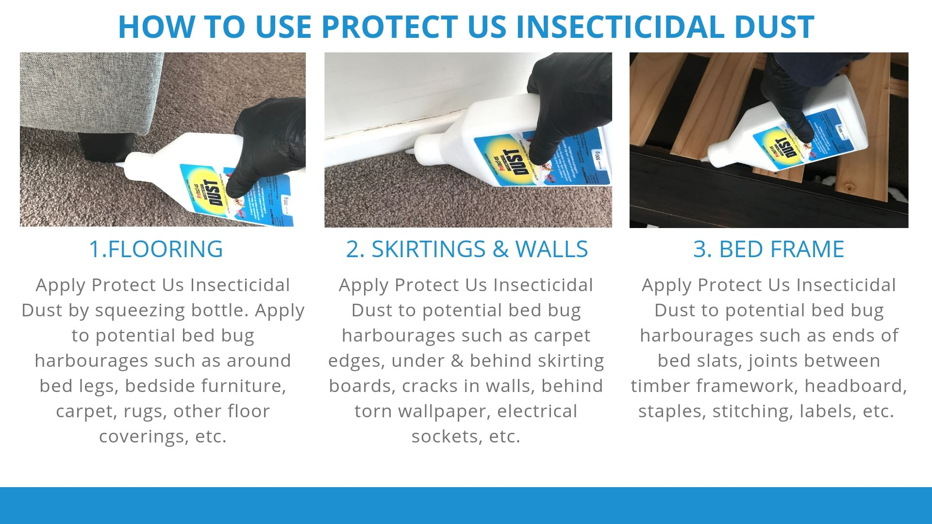 How to use Protect us Insecticidal Dust for Bed Bugs