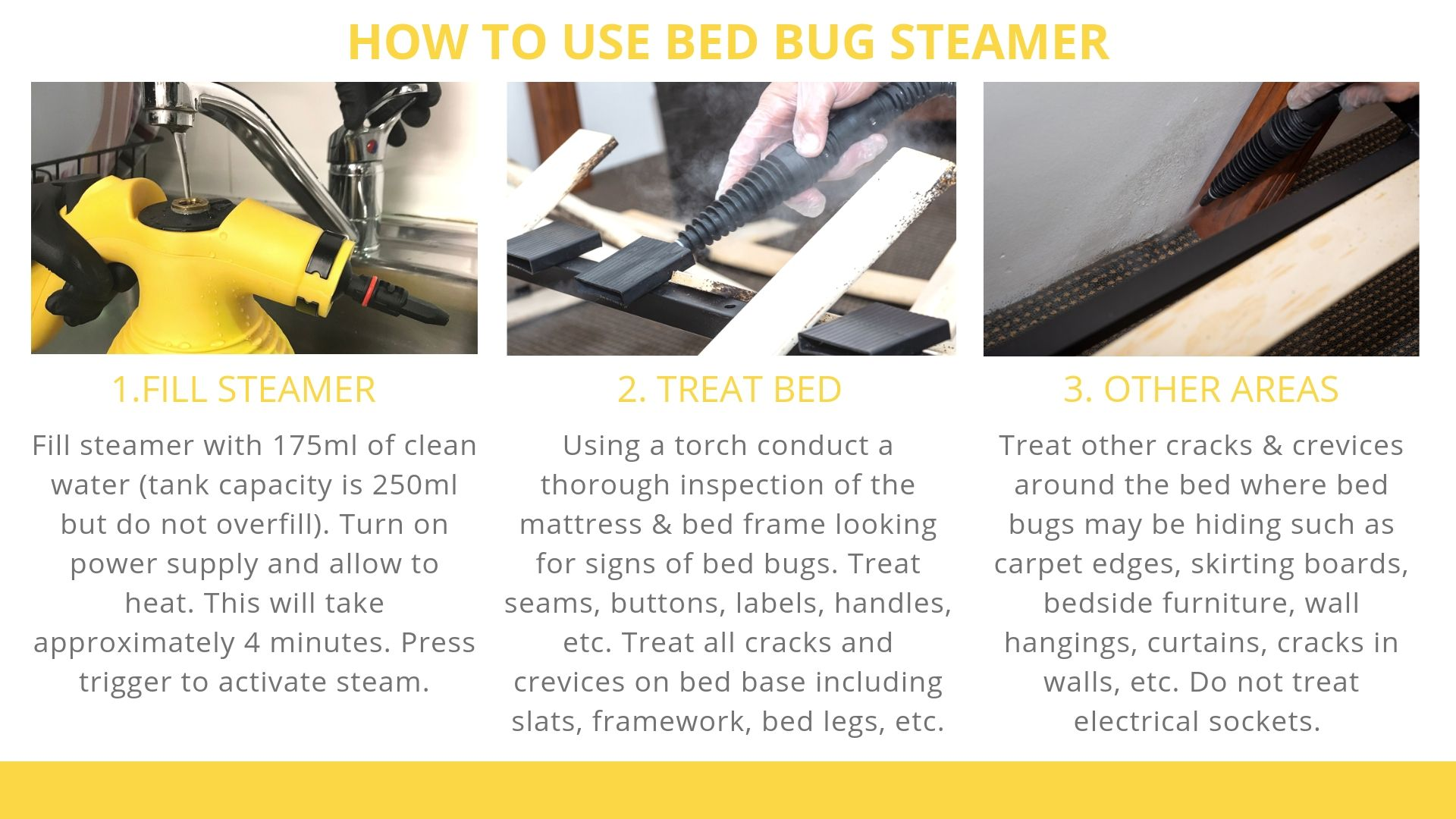 How to use Bed Bug Steamer