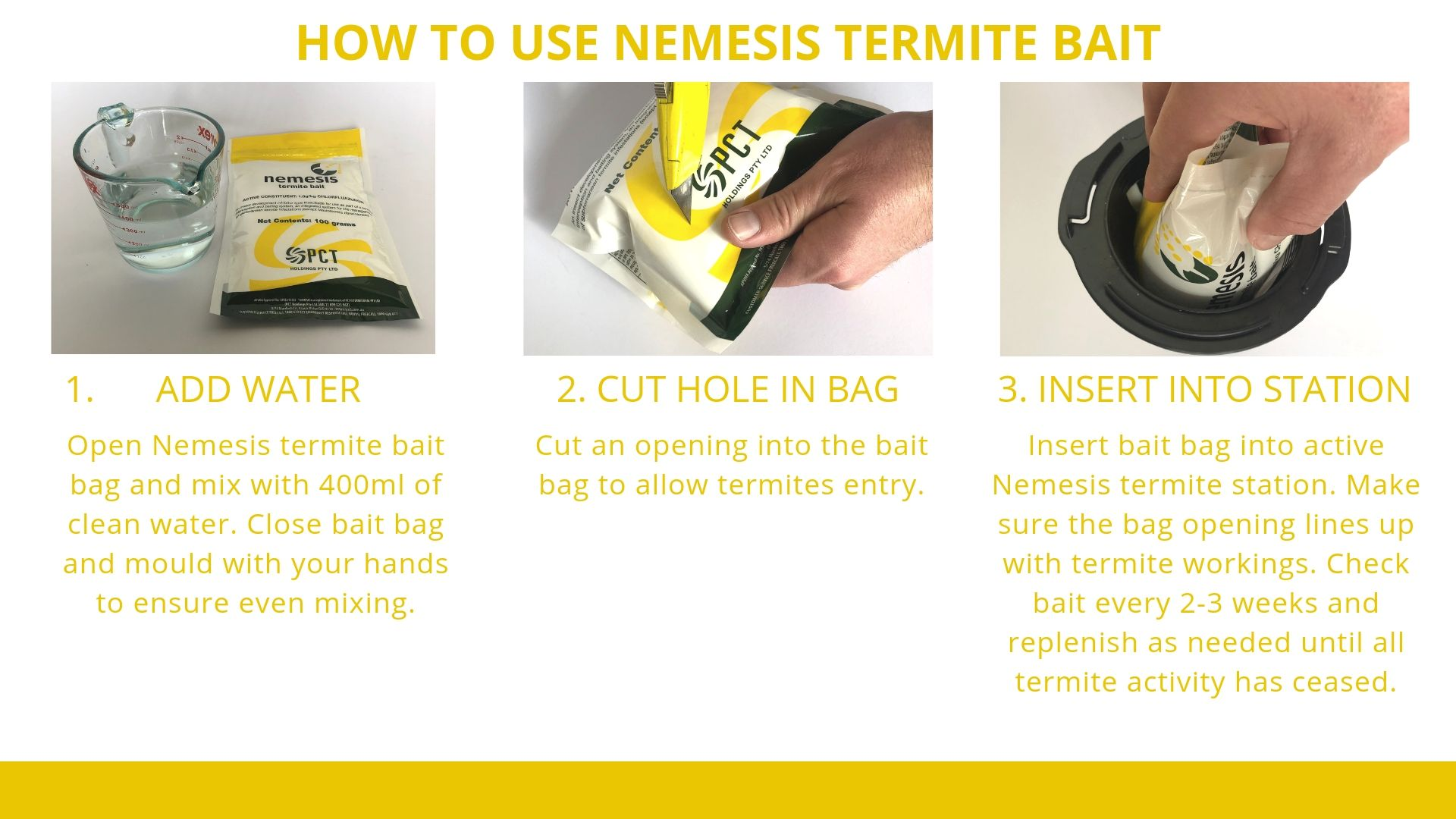 How to use Nemesis Termite Bait